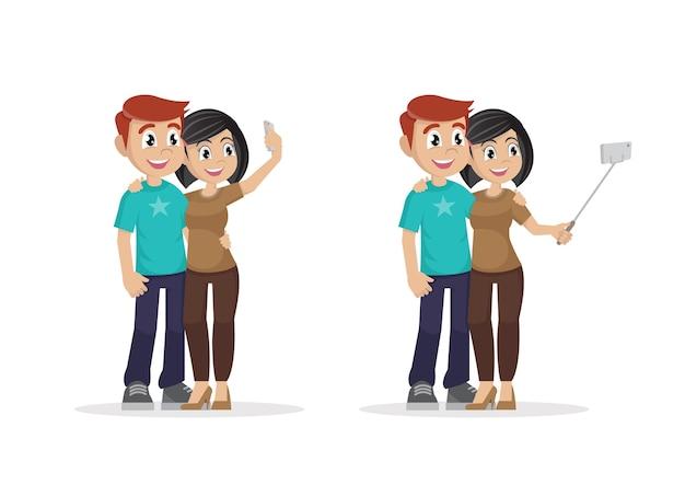 Man en vrouw worden samen gefotografeerd