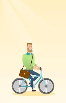 Man fietsten