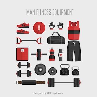 Man fitnessapparatuur