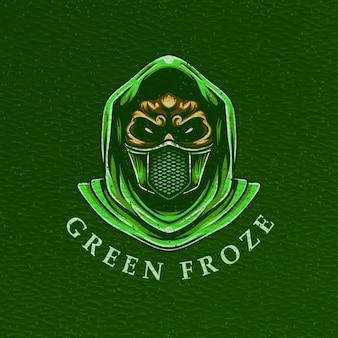 Man gasmasker illustratie voor t-shirtontwerp