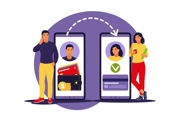 Man geld overmaken via smartphone.