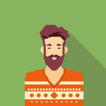 Man hipster stijl baard portret pixel
