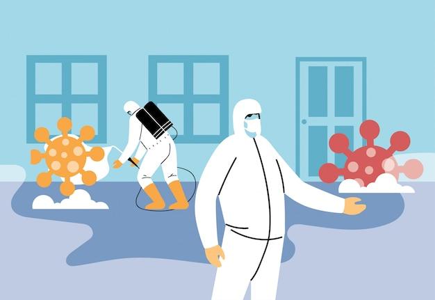 Man in biosecurity pakken verwijderd