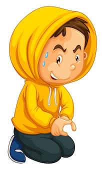 Man in geel sweatshirt