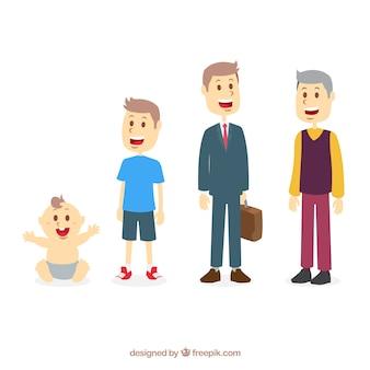 Man in verschillende leeftijden