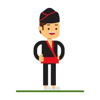 Man karakter avatar pictogram. dim sum