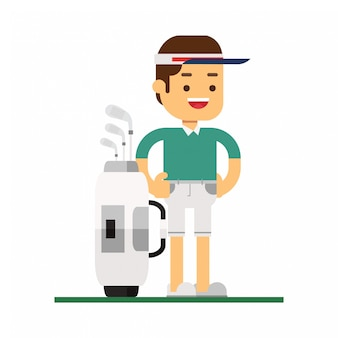 Man karakter avatar pictogram