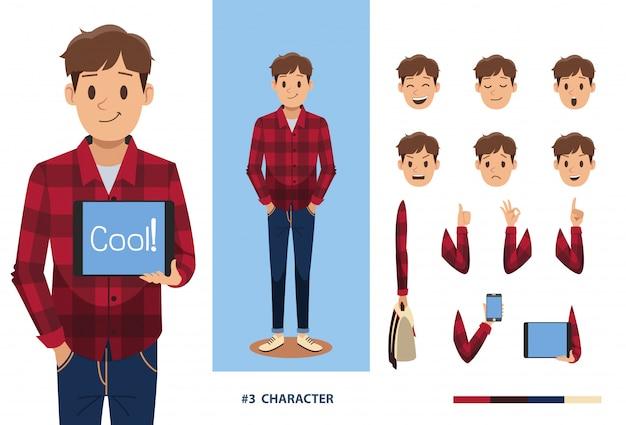 Man karakter ontwerp no2