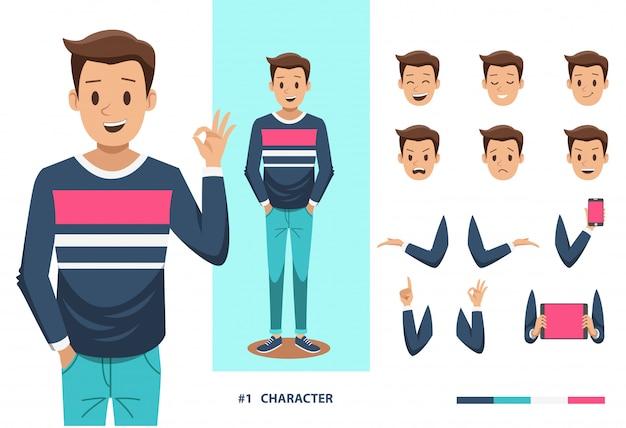 Man karakter ontwerp