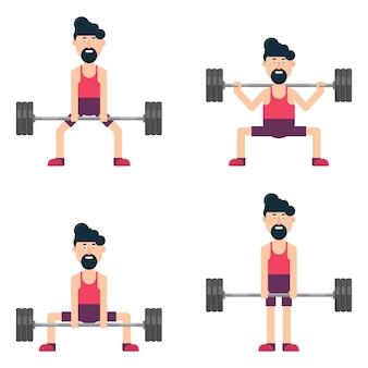 Man karakter training in de sportschool