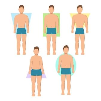 Man lichaamsvormen pack