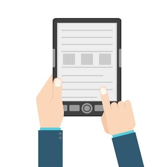 Man met e-boek