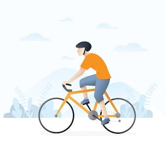 Man met een fiets
