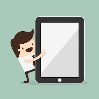 Man met een tablet