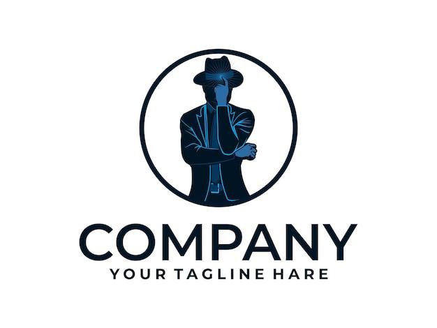 Man met hoed vindt idee-logo