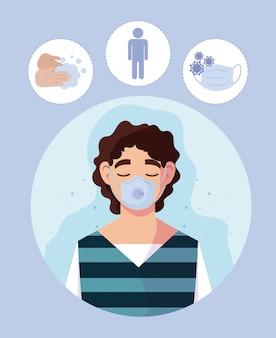 Man met medisch masker