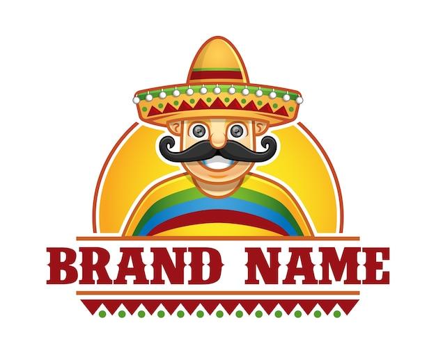 Man met sombrero restaurant logo