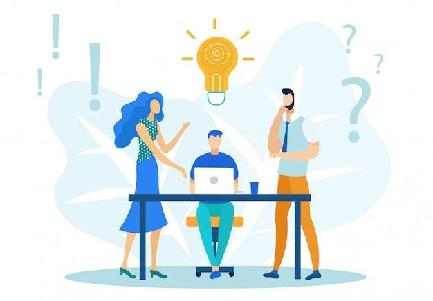 Man op bureau met laptop, projecten bespreken.