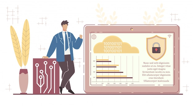 Man presenteert nieuwe beveiligde cloudopslagservice