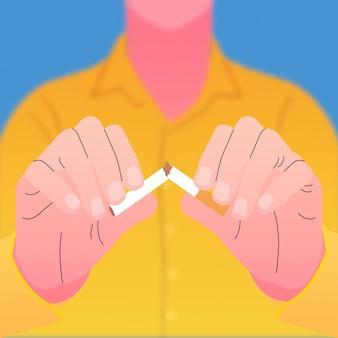 Man scheurt een sigaar af