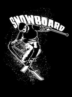 Man snowboard spelen