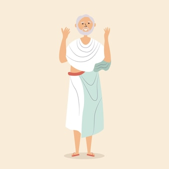 Man soutane houdt handen bidt