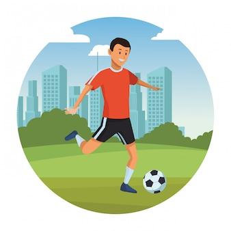 Man te voetballen