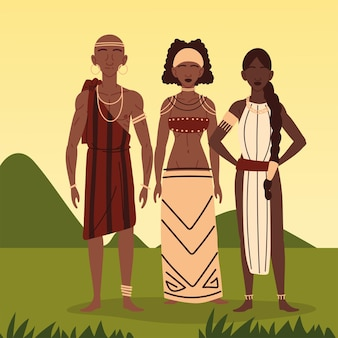 Man vrouw aboriginal