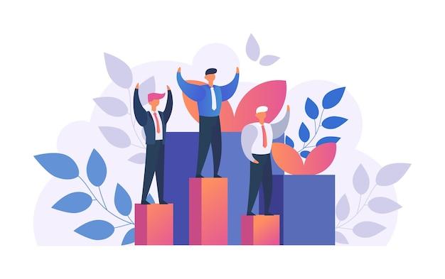 Man winnaar, succesvolle zakenman met armen omhoog zijn overwinning vieren geïsoleerd op wit. succes of overwinning concept, feest. prestatie, zaken winnen, leiderschap.