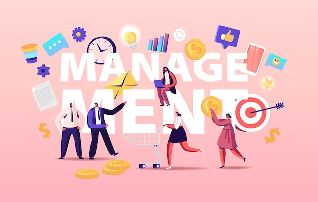 Management concept illustratie