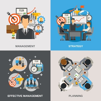 Management flat set