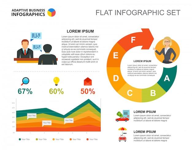 Management gebied grafieksjabloon voor presentatie