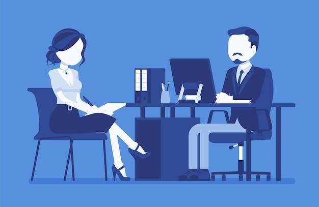 Managementvergadering voor het geven van informatie-instructies