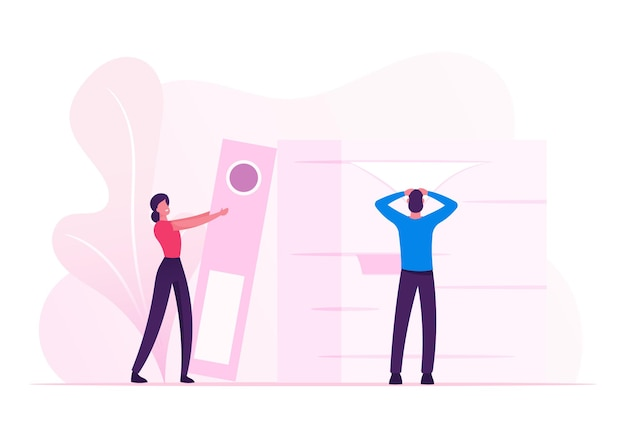Manager baanberoep, deadline. cartoon vlakke afbeelding