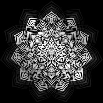 Mandala-achtergrond met gouden arabesque
