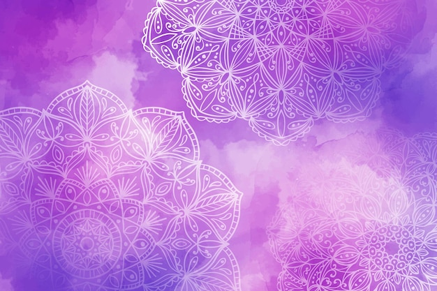 Mandala achtergrond met kleurovergang