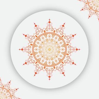 Mandala-achtergrond met kleurrijk gradiënt arabesque patroon