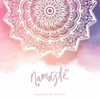 Mandala achtergrond met verloopkleuren