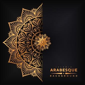 Mandala achtergrond van luxe arabesque