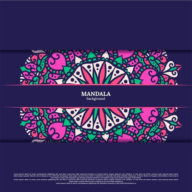 Mandala achtergrond. vintage decoratieve elementen. hand getrokken achtergrond. islam, arabische, indiase, ottomaanse motieven.