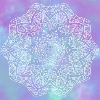 Mandala aquarel achtergrond