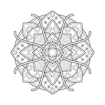 Mandala arabesque kleurplaat pagina boekillustratie