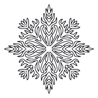 Mandala art design. boek kleurplaat