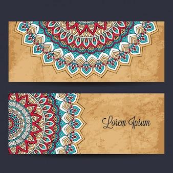 Mandala banners ontwerp