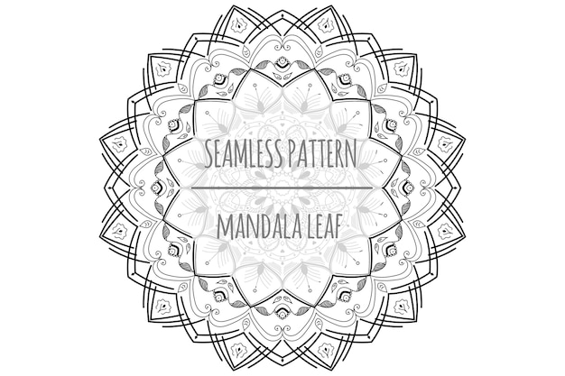 Mandala blad naadloze patroon