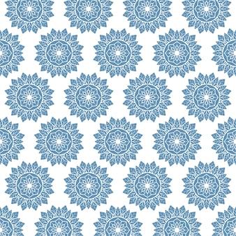 Mandala blauw bloempatroon