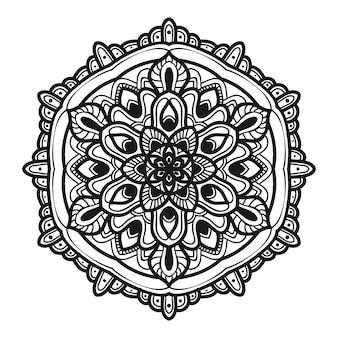 Mandala bloem illustratie vector ontwerp