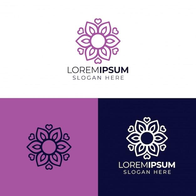 Mandala bloem logo
