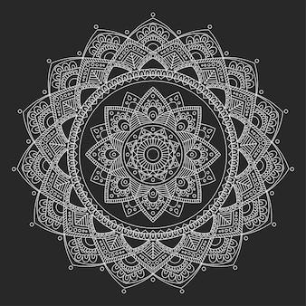 Mandala bloem overzicht decoratieve illustratie