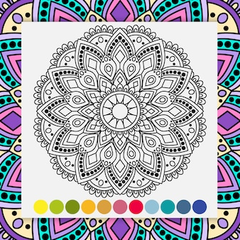 Mandala bloem voor volwassenen ontspannen kleurboek.